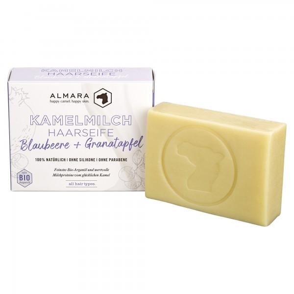 Almara Kamelmlch Haarseife Blaubeere & Granatapfel