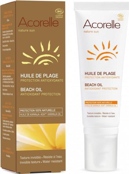 Acorelle Beach Oil, rein pflanzlicher Sonnenfilter