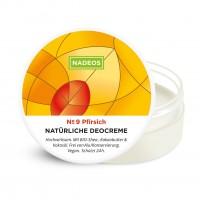 Nadeos Natürliche Deocreme Pfirsich