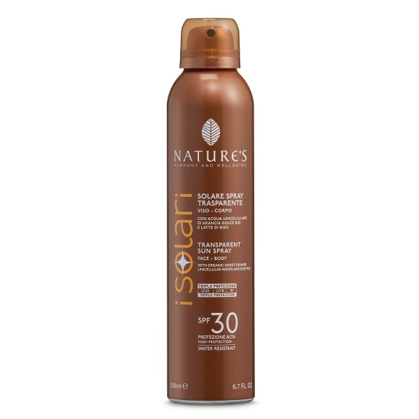 Nature's Sun Spray Transparent, SPF 30, Face & Body