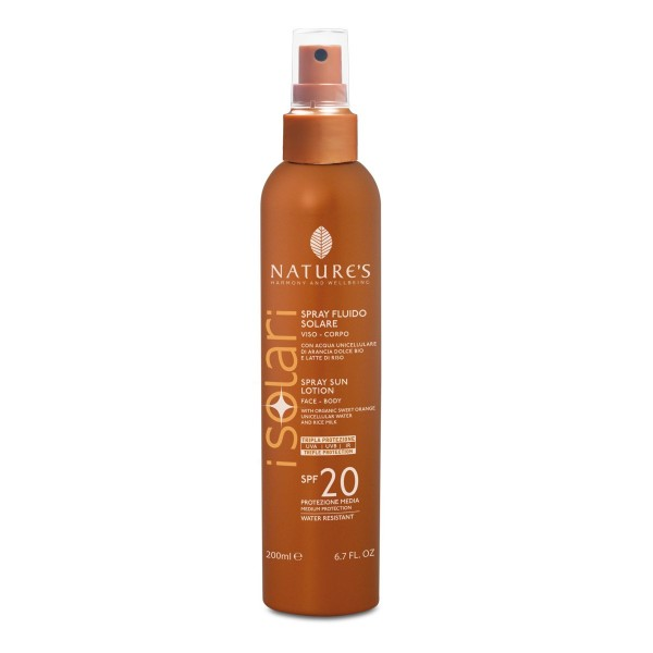 Nature's Sun Spray Lotion SPF 20, Face & Body