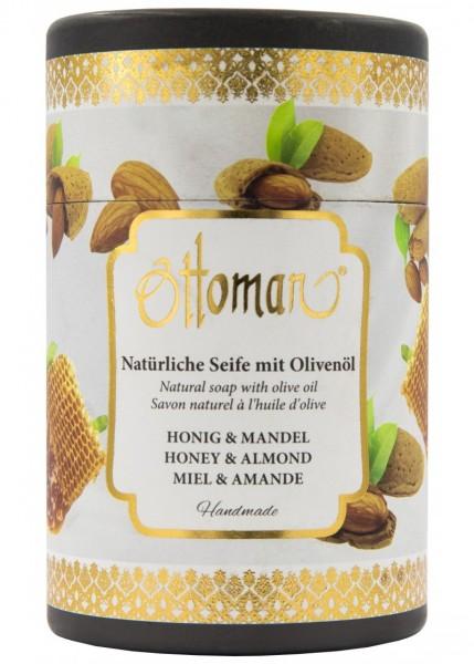 Ottoman Honig & Mandel Olivenölseife in Zylinderbox