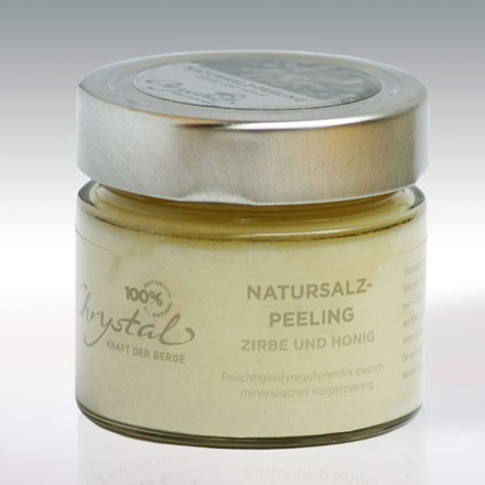 Chrystal Natursalzpeeling Honig & Zirbe