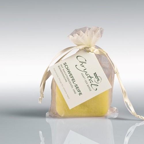 Chrystal Schwefel-Seife mit Nachtkerzenöl und Bienenwachs
