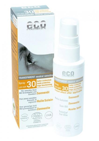 eco cosmetics Sonnenöl Spray LSF 30 transparent