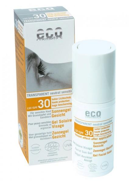 eco cosmetics Sonnengel Gesicht LSF 30 transparent