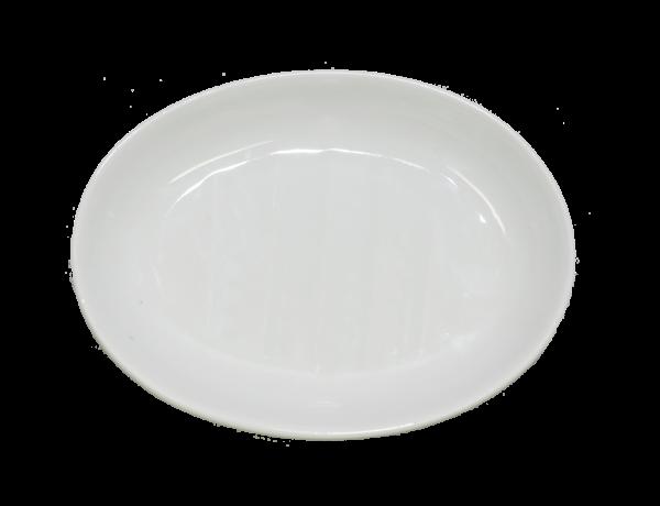 Seifenschale oval, Porzellan weiß