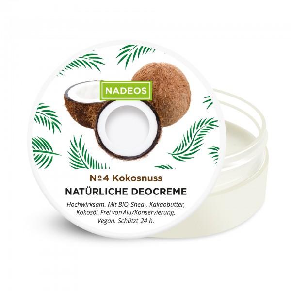Nadeos Natürliche Deocreme Kokosnuss