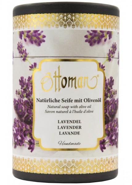 Ottoman Lavendel Olivenölseife in Zylinderbox