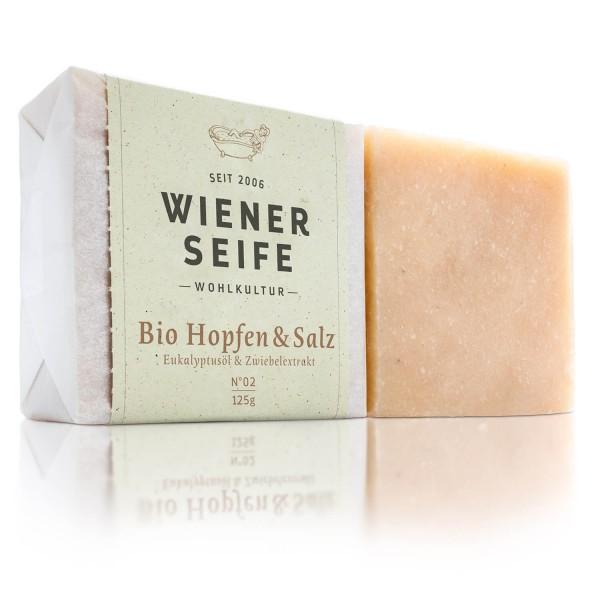 Wiener Seife Bio Hopfen und Salz N° 02, handgemacht