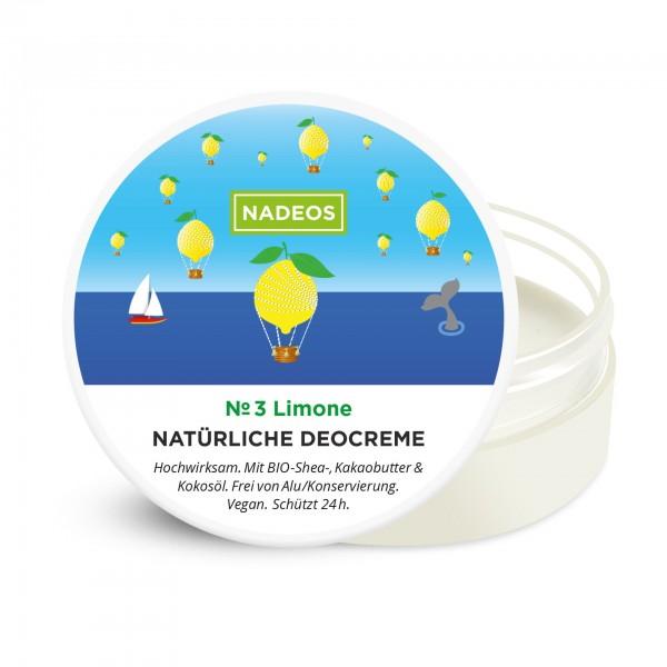 Nadeos Natürliche Deocreme Limone