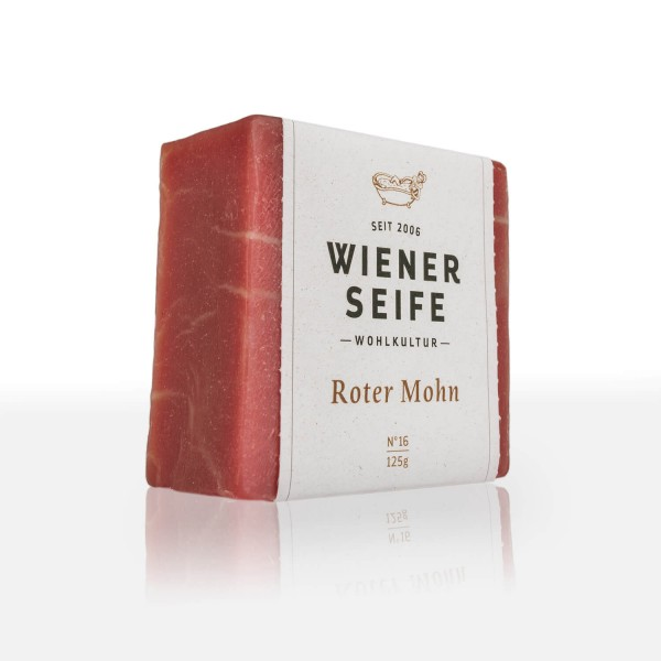 Wiener Seife Roter Mohn Nr°16, handgemacht