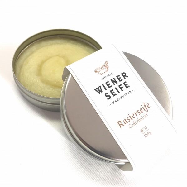 Wiener Seife Rasierseife Cederholz, handgemacht