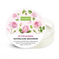 Nadeos Natürliche Deocreme Rosenblüte